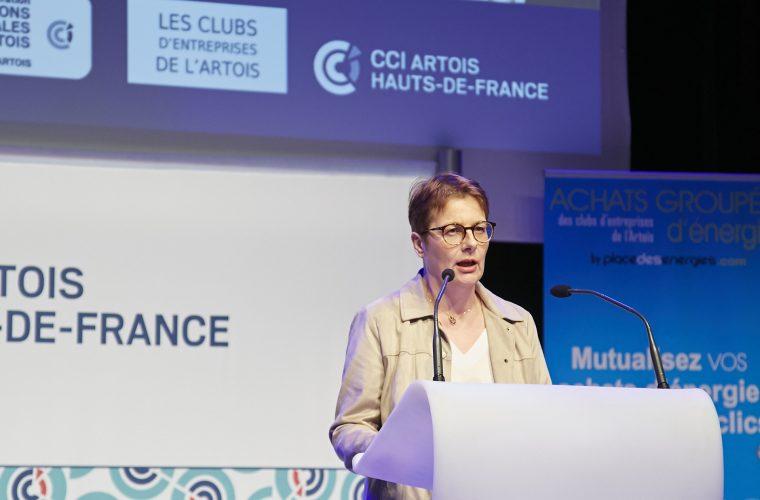 F. Thevenin, Présidente du Club FCE Artois