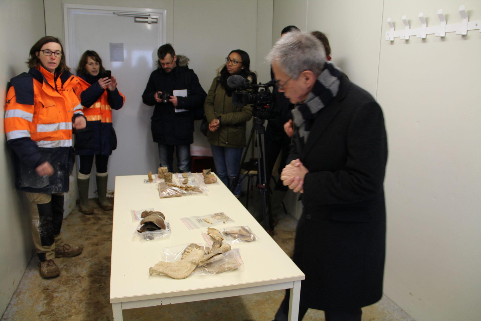 visite chantier de fouilles Vauchelles 2