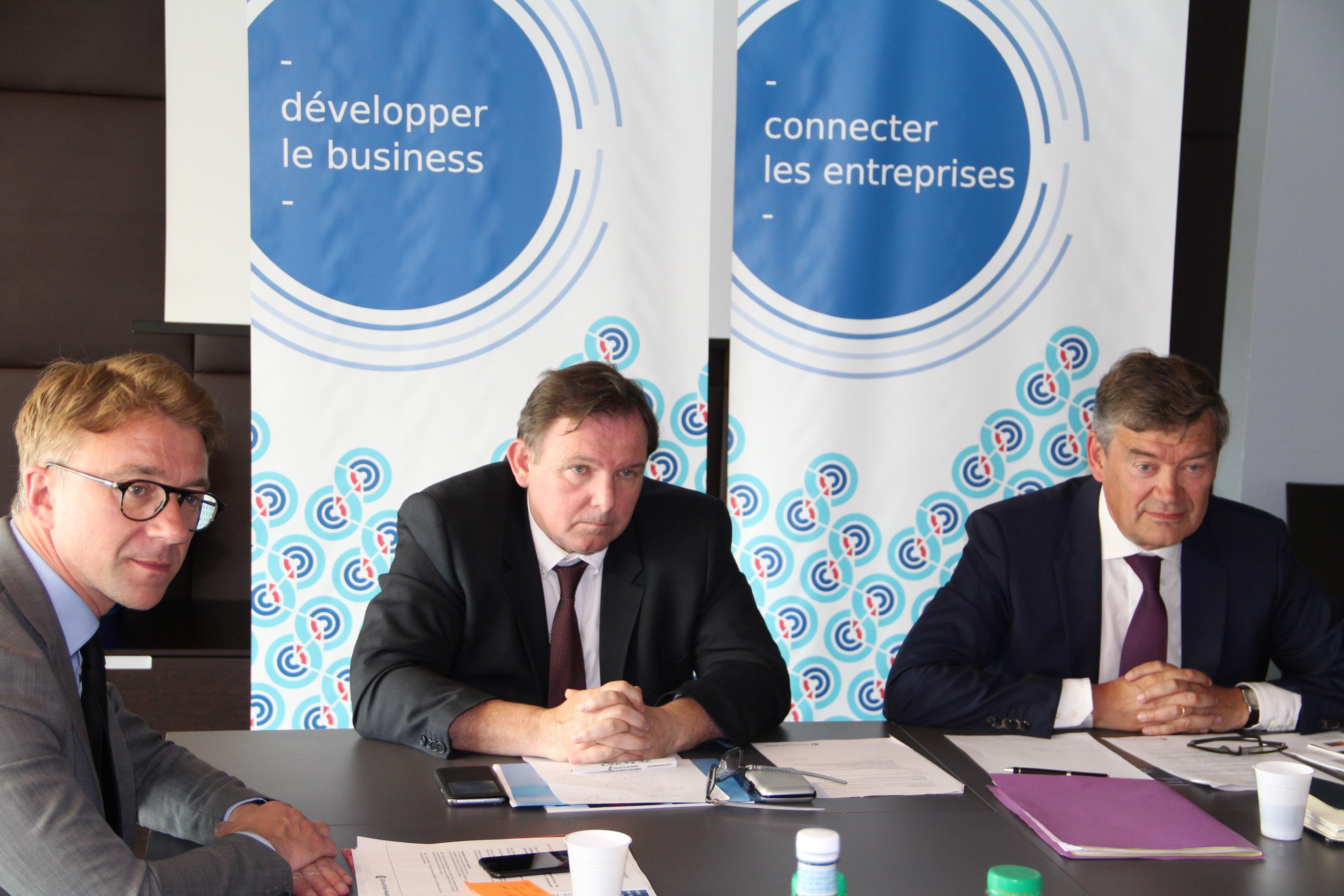 De g. à dr : David Brusselle, François Lavallée, Philippe Hourdain