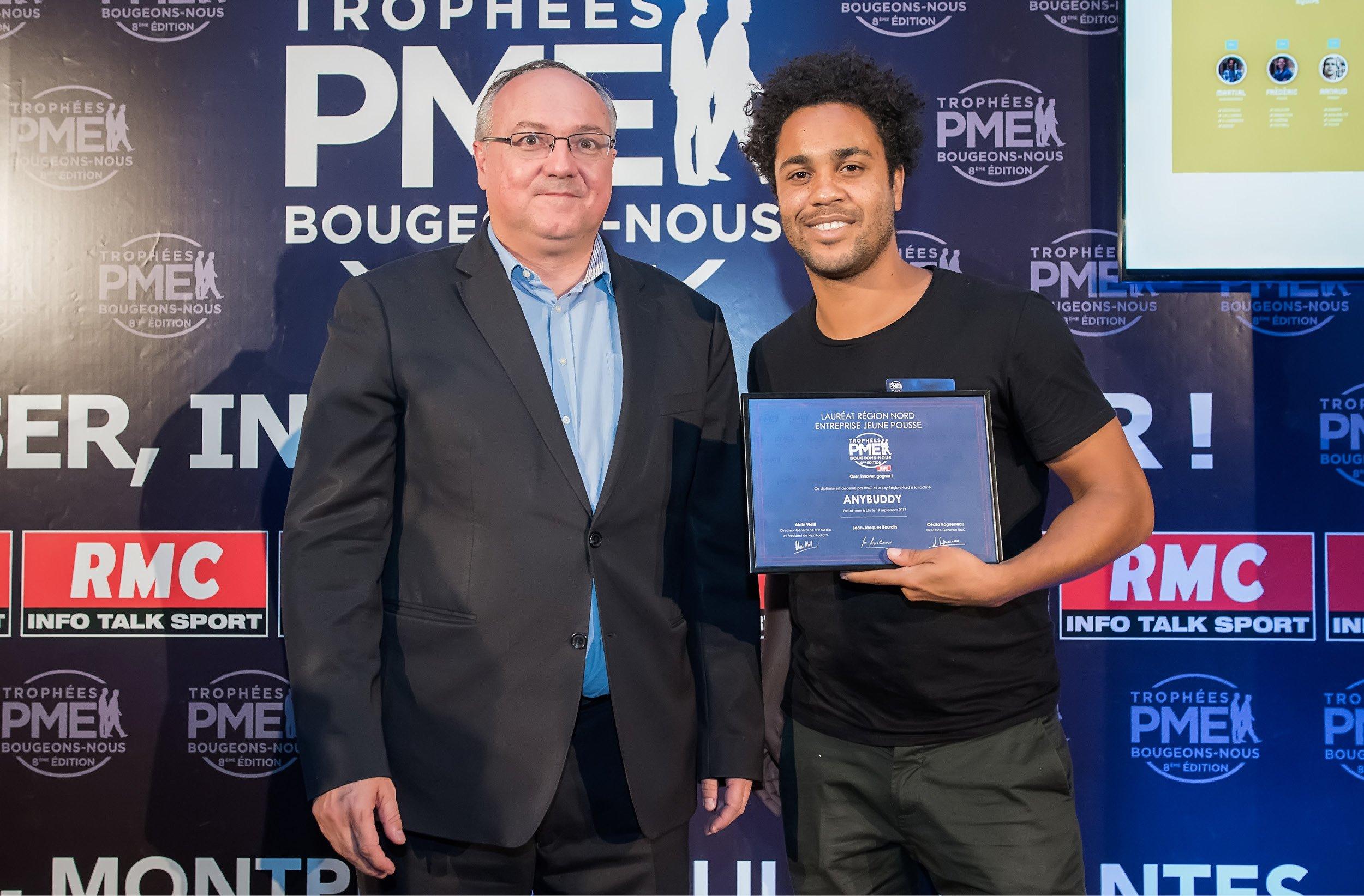 Anybuddy, lauréat 2017 des trophées RMC