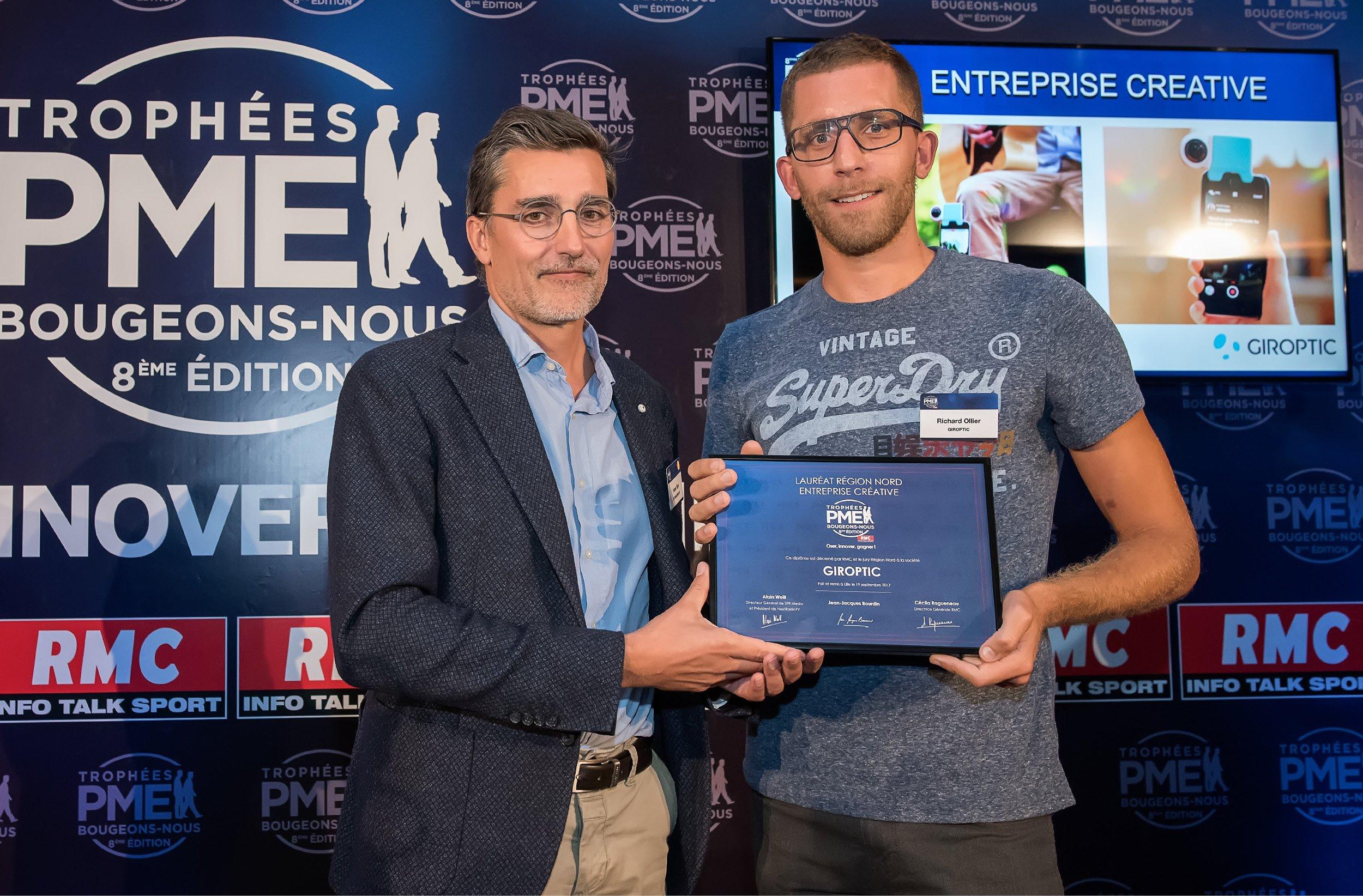 Giroptic, lauréat 2017 des Trophées RMC PME Bougeons-Nous