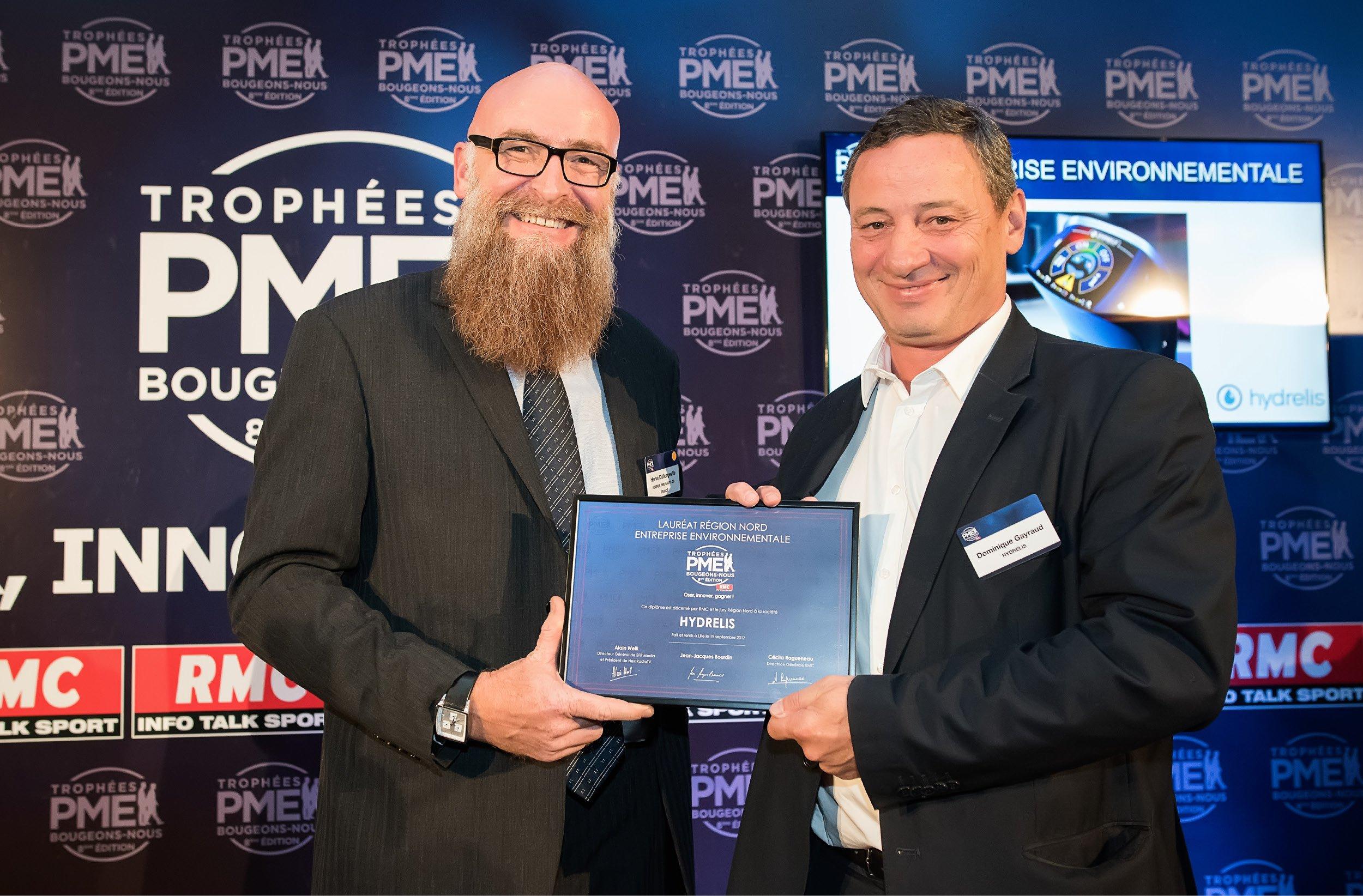 Hydrelis, lauréate  2017 des Trophées RMC PME Bougeons-Nous