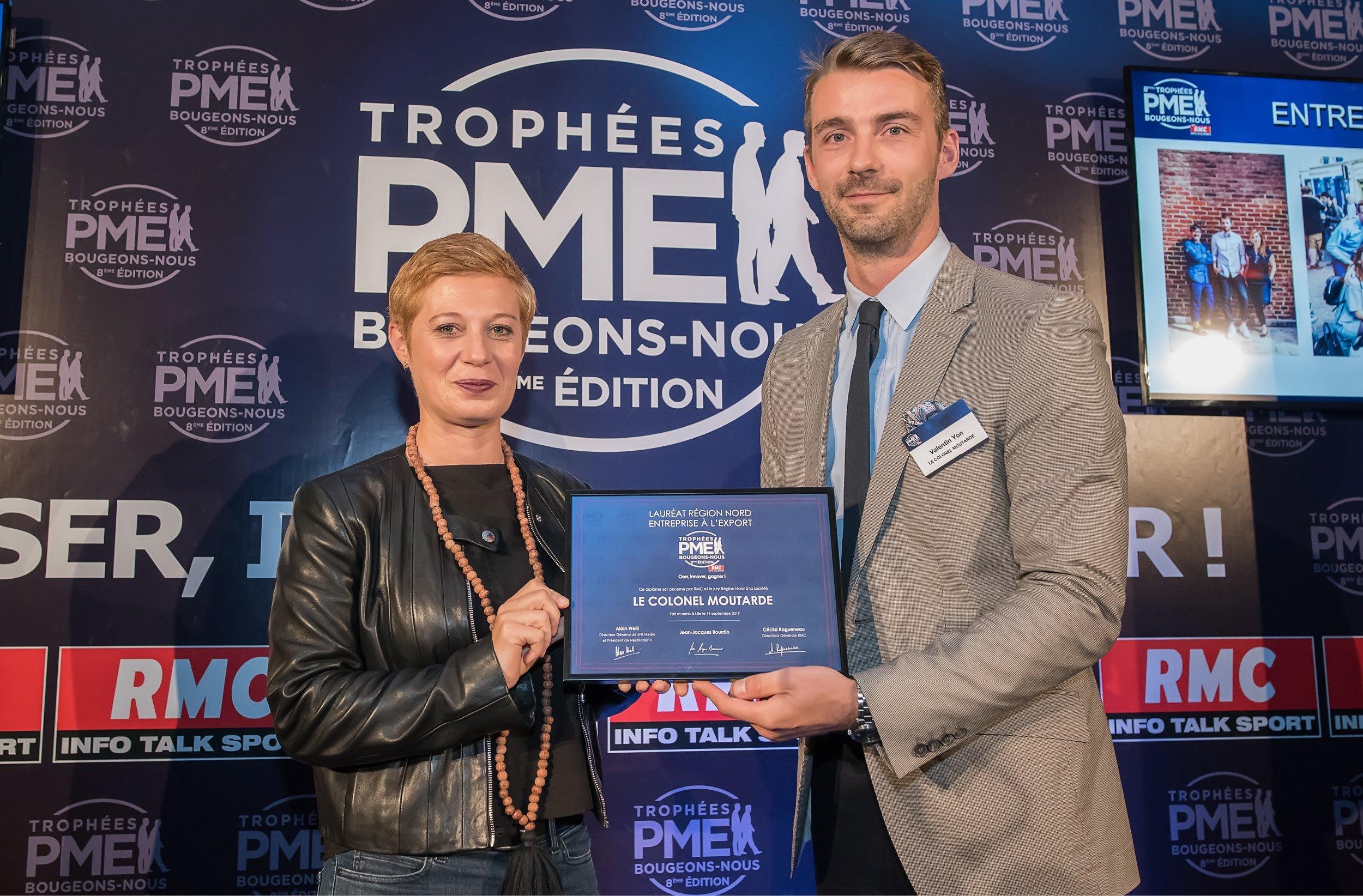 Le Colonel Moutarde, lauréat 2017 des Trophées RMC PME Bougeons-Nous !