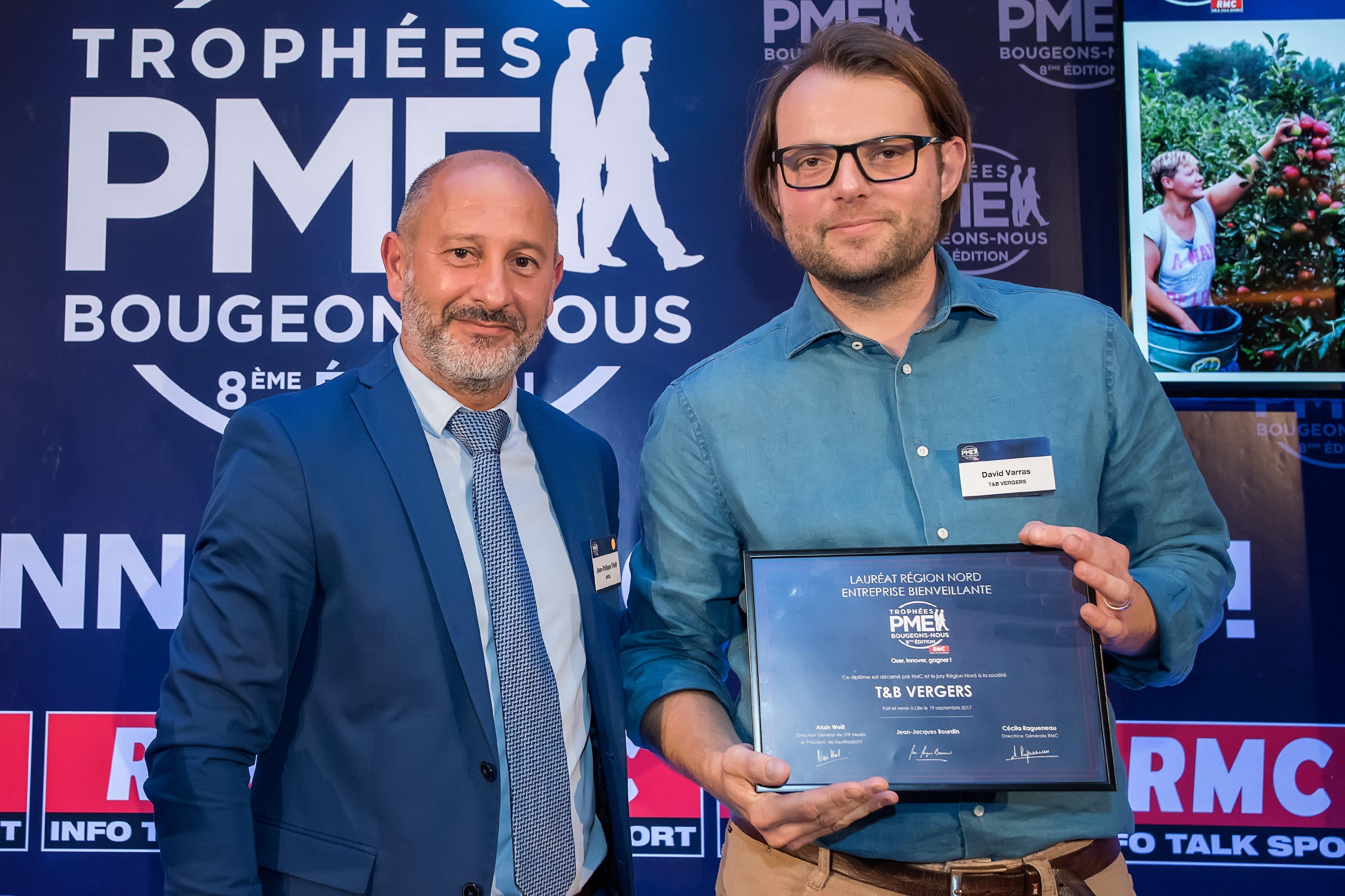 T&B VERGERS, lauréat 2017 des Trophées RMC PME Bougeons-Nous