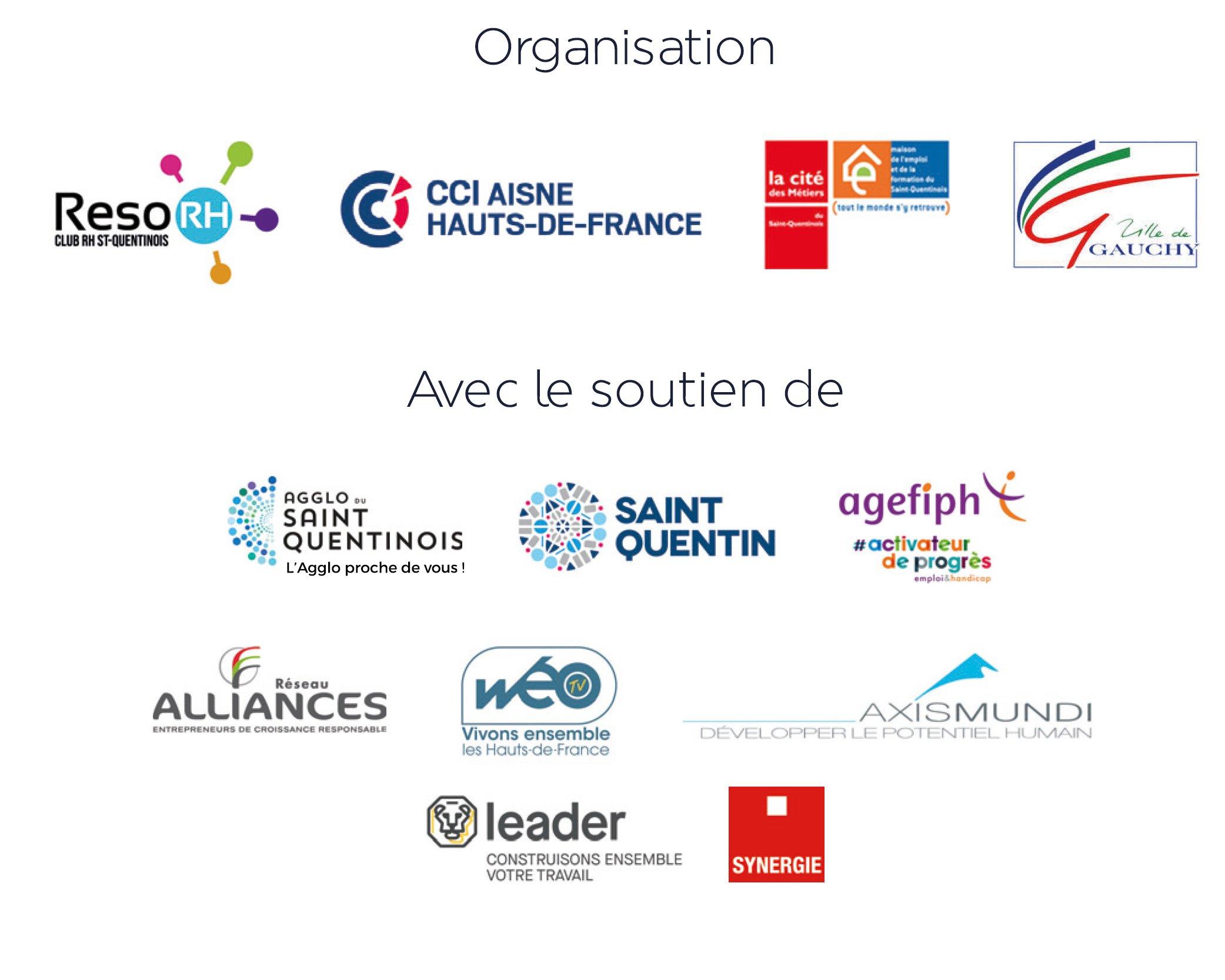 Logos organisateurs et partenaires Club Réseau RH