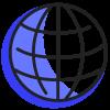 globe sombre bleu