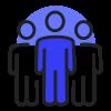groupe bleu sombre