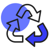 recyclage bleu sombre