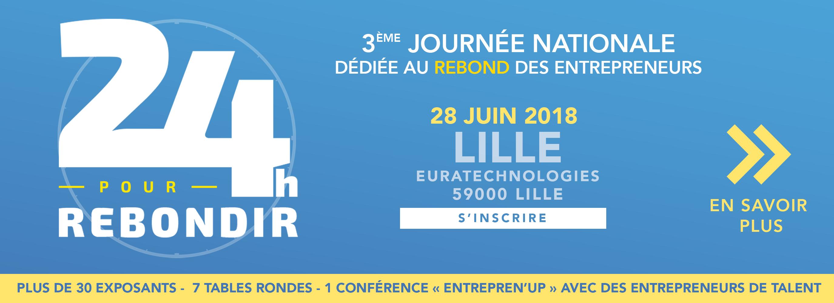 24h pour rebondir Lille 28 juin
