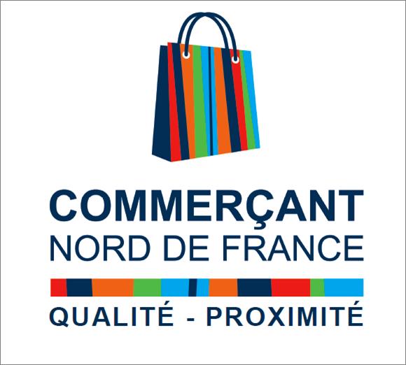 Logo commercant ndf avec baseline proximité
